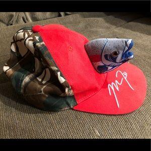 🔴 Unisex Angels 3D Fish Hat Cap Worn Once EUC